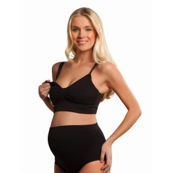 Sutien maternitate si alaptare Seamless GelWire - Carriwell - Black