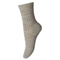 Sosete subtiri mp Denmark lână Wool Rib - Light Brown