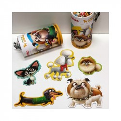 Puzzle 5 in 1 Cubika - Dogs