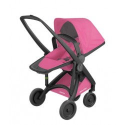 Carucior Greentom - Reversible 100% Ecologic - Black Pink
