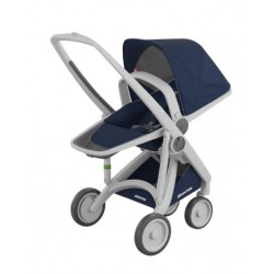 Carucior Greentom - Reversible 100% Ecologic - Grey Blue