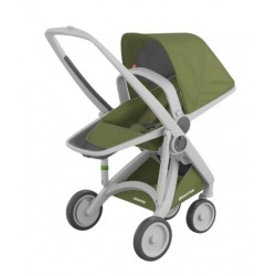 Carucior Greentom - Reversible 100% Ecologic - Grey Olive