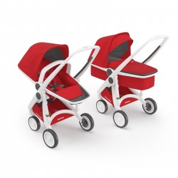 Carucior 2 in 1 Greentom 100% Ecologic - White Red