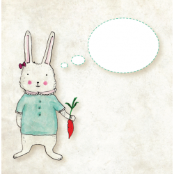 Felicitare Pojumka - RABBIT BUBBLE