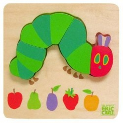 The Very Hungry Caterpillar - Joc puzzle din lemn Omida