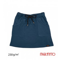 Fusta copii 100% lana merinos 230g Merinito - Dark Denim