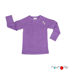 Bluza/Tricou (2 in 1) ManyMonths canepa si bumbac organic - Sheer Violet