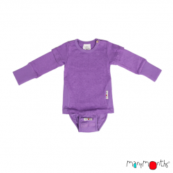 Body/Tricou (4 in 1) ManyMonths canepa si bumbac organic - Sheer Violet