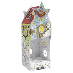 Casuta de colorat 3D din carton Monster House - Monumi