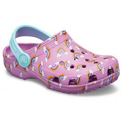 Slapi Crocs (Kids' Crocband™ Seasonal Graphic Clog) - Violet
