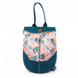 Rucsac Pastel Roses on a Turquoise Base - Delikates Accessories
