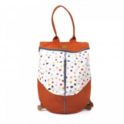 Rucsac Colorful Dots on Copper - Delikates Accessories