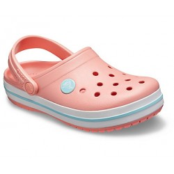 Slapi Crocs (Kids' Crocband™ Clog) - Melon / Ice Blue