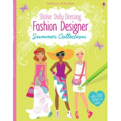Little sticker dolly dressing - Fashion designer summer collection - Usborne