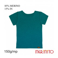Tricou copii 150 g/mp 85% merino 15% in - SeaPort - Merinito