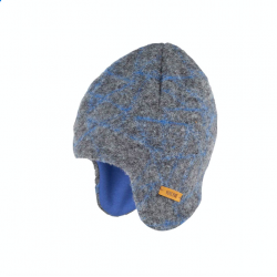 Caciula Pure Pure lână organica boiled wool - Inka Hat Grey/Blue