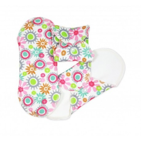Absorbante intime din bumbac organic Panty liners Flower - ImseVimse (3 buc)