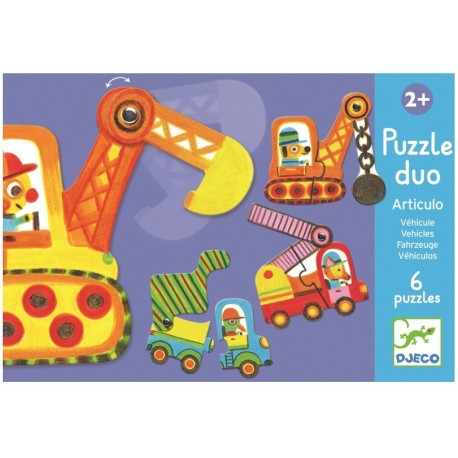 Puzzle duo mobil vehicule Djeco