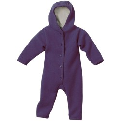 Overall Disana din lana organica boiled wool - Plum