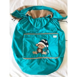Protectie SSC de iarna 2 in 1 Littlebee - Monkey on Blue