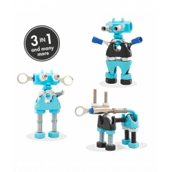 CareBit - 3 În 1 Character Kit The OFFBITS - Set De Construit Cu Șuruburi Și Piulițe