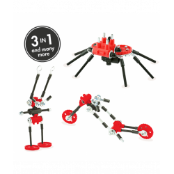 SpiderBit - 3 În 1 Animal Kit The OFFBITS - Set De Construit Cu Șuruburi Și Piulițe