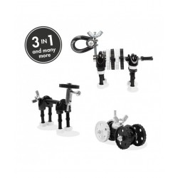 ZebraBit - 3 În 1 Animal Kit The OFFBITS - Set De Construit Cu Șuruburi Și Piulițe