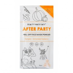 Masca peel off pt stralucire, After Party, pt toate tipurile de ten, cu dovleac, Beauty Made Easy, 10 g