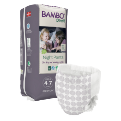 Scutece tip chilotel eco pentru copii Bambo Nature Dreamy, Night Pants, Girls 4-7 ani
