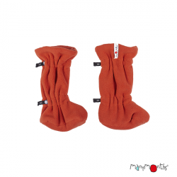 Botosei ManyMonths Winter Booties pt babywearing - Rooibos Red/Rooibos Red