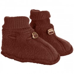 Botosei Mikk-line din fleece lână merinos - Madder Brown