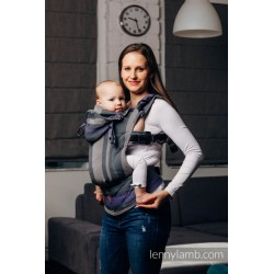 LennyGo Ergonomic Carrier, Baby Size, broken-twill weave 100% cotton - SMOKY - LILAC