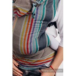 LennyGo Ergonomic Carrier, Toddler Size, broken-twill weave 100% cotton - OASIS