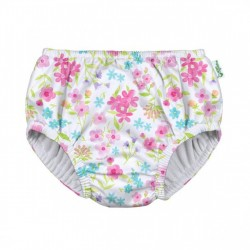 Slip fete White Flower Bouquet SPF 50+ refolosibil Green Sprouts by iPlay