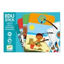 Edu-Stick Djeco, Stickere educative cu Anotimpuri