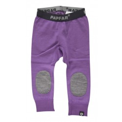 Leggings lana merinos si bumbac Papfar Carrie Baby Patch - modelul nou - Purple