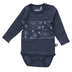 Body lana merinos si bumbac Papfar Cookie Patch - Navy