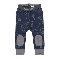 Leggings lana merinos si bumbac Papfar Carrie AOP Baby Patch - Navy
