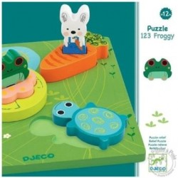 Puzzle Djeco relief 1,2,3 froggy