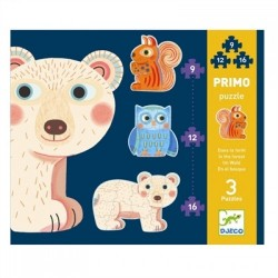 Set Puzzle-uri evolutive Djeco animale