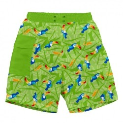 Pantaloni cu filtru UV și slip inclus Ultimate iPlay - Lime Toucan