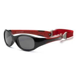 Ochelari de soare Real Kids Shades Explorer - Black & Red