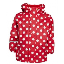 Pelerină de ploaie si windstopper - CeLaVi - Red Polka Dots Collection