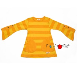 Tunica fluture cu maneci ajustabile din bumbac organic ManyMonths - Lemon Pie Eco Stripe