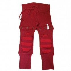 Yoga pants (2 in 1) din bumbac organic ManyMonths -Sweet Cherry Eco Stripe